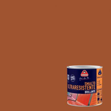 Smalto BOERO FAI DA TE base solvente marrone cuoio 0.5 L