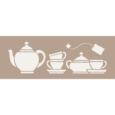 Stencil tema geometrici Tea time 15 x 40 cm
