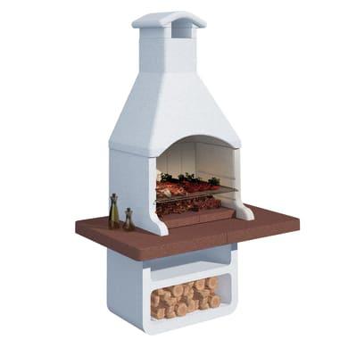 Barbecue in cemento refrattario LINEA VZ Siviglia L 90 x P 90 x H 237 cm