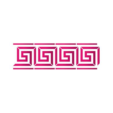 Stencil tema geometrici LES DECORATIVES Greca 40.0 x 0.1 cm
