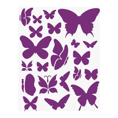 Stencil tema animali e personaggi LES DECORATIVES Farfalle 38 x 0.1 cm