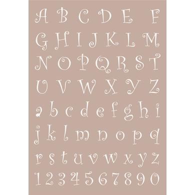 Stencil tema geometrici Alfabeto 21 x 30 cm