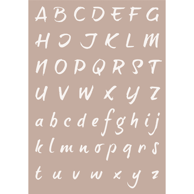 Stencil tema lettere, parole e numeri TO DO 21 x 30 cm
