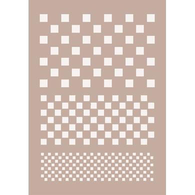 Stencil tema geometrici Quadretti 21 x 30 cm
