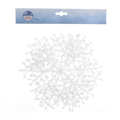 Fiocchi di neve bianchi Ø 23 cm