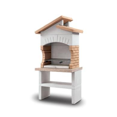 Barbecue in marmo Cordoba modulo cucina L 70 x P 70 x H 193 cm