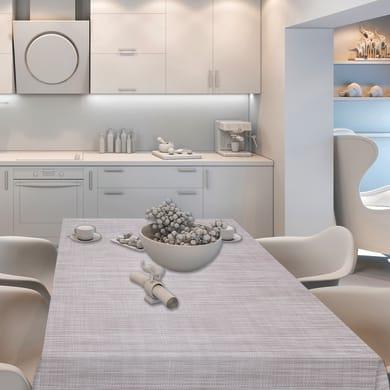 Tovaglia INSPIRE Finto tessuto grigio 140x220 cm