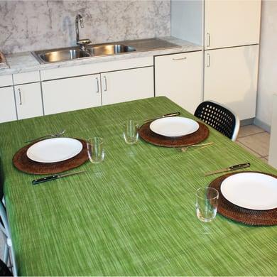 Tovaglia INSPIRE Finto tessuto verde 140x220 cm
