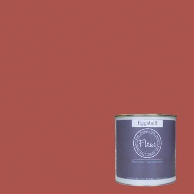 Smalto FLEUR EGGSHELL base acqua rosso cherry lips satinato 0.75 L