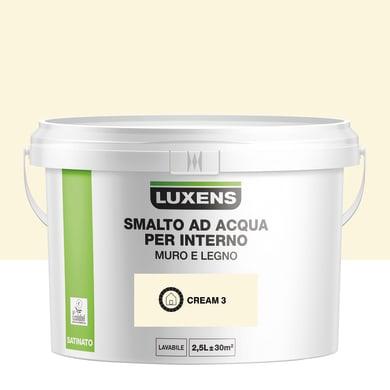 Vernice di finitura base acqua bianco cream 3 satinato 2.5 L