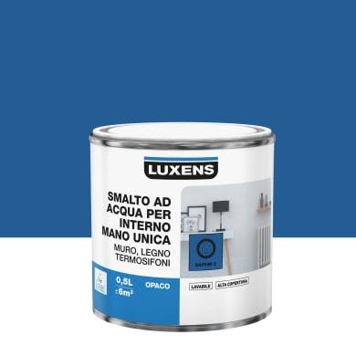 Vernice di finitura LUXENS Manounica base acqua blu zaffiro 2 opaco 0.5 L