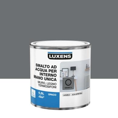 Smalto LUXENS Manounica base acqua grigio granito 2 opaco 0.5 L