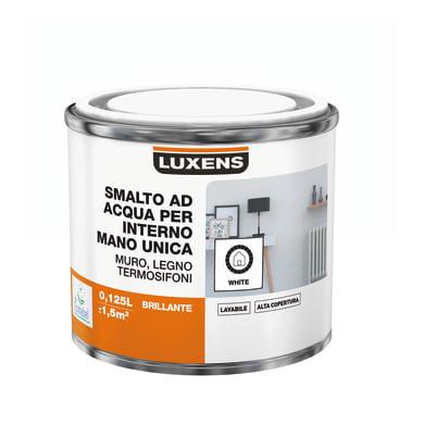 Vernice di finitura LUXENS Manounica base acqua bianco lucido 0,125 L