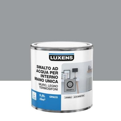 Vernice di finitura LUXENS Manounica base acqua grigio granito 3 opaco 0.5 L