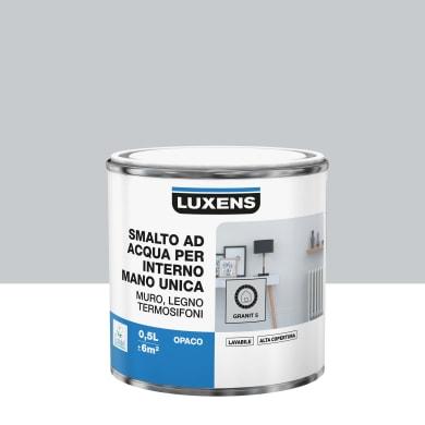 Vernice di finitura LUXENS Manounica base acqua grigio granito 5 opaco 0.5 L