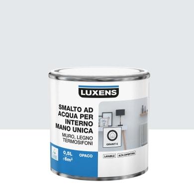Vernice di finitura LUXENS Manounica base acqua grigio granito 6 opaco 0.5 L