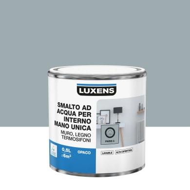Vernice di finitura LUXENS Manounica base acqua grigio parigi 5 opaco 0.5 L