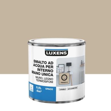 Vernice di finitura LUXENS Manounica base acqua marrone trench 5 opaco 0.5 L