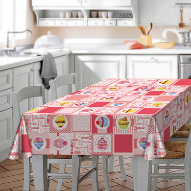 Tovaglia Cupcake multicolore 120x160 cm