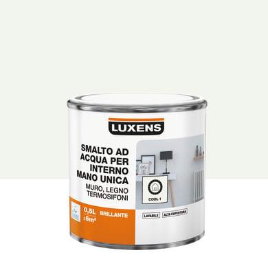 Vernice di finitura LUXENS Manounica base acqua bianco cool 1 lucido 0.5 L