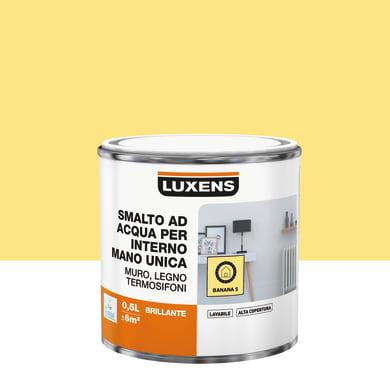 Vernice di finitura LUXENS Manounica base acqua giallo banana 5 lucido 0.5 L