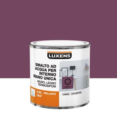 Vernice di finitura LUXENS Manounica base acqua rosa candy 2 lucido 0.5 L