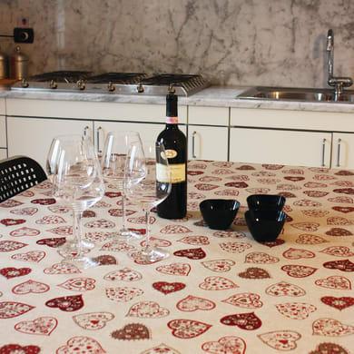 Tovaglia INSPIRE Cuori rosso 140x220 cm