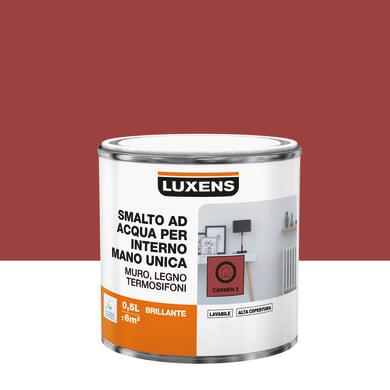 Smalto LUXENS Manounica base acqua rosso carmen 3 lucido 0.5 L