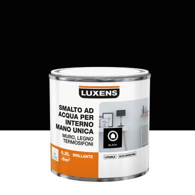 Vernice di finitura LUXENS Manounica base acqua nero lucido 0.5 L
