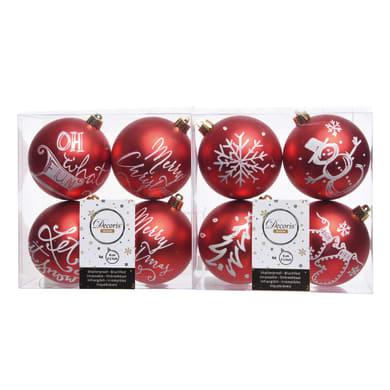 Sfera natalizia Ø 8 cm confezione da 4 pezzi