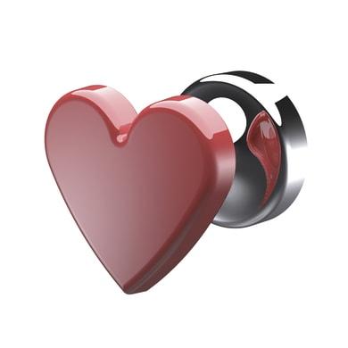 Gancio cuore rosso lucido in plastica