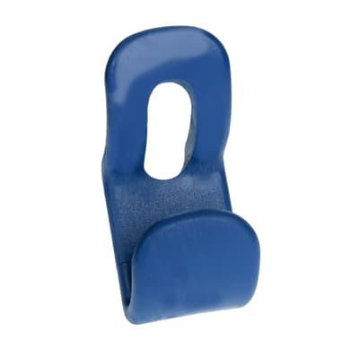 Appendiabiti in plastica 2 ganci blu