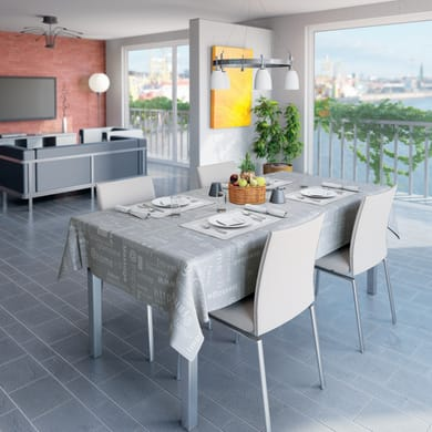 Tovaglia INSPIRE Letter grigio 140x220 cm