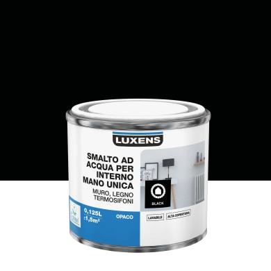 Vernice di finitura LUXENS Manounica base acqua nero opaco 0,125 L