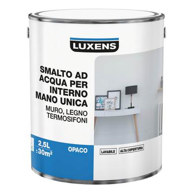 Vernice di finitura LUXENS Manounica base acqua bianco opaco 2.5 L