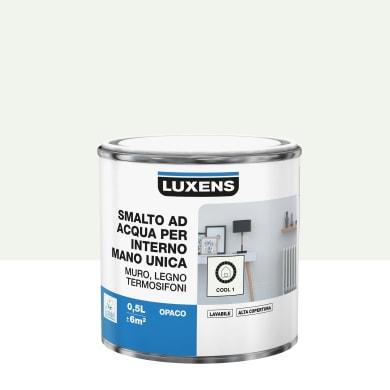 Vernice di finitura LUXENS Manounica base acqua bianco cool 1 opaco 0.5 L