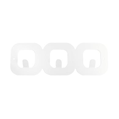 Appendiabiti REI Quadro in metallo 3 ganci bianco