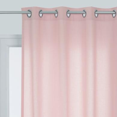 Tenda Pronta INSPIRE Sunny rosa occhielli 140 x 280 cm