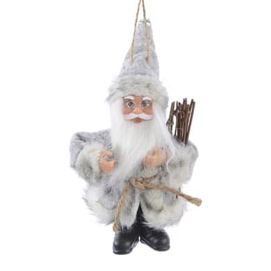 Decorazione per albero di natale Babbo Natale grigio , L 9 cm x P 5 cm