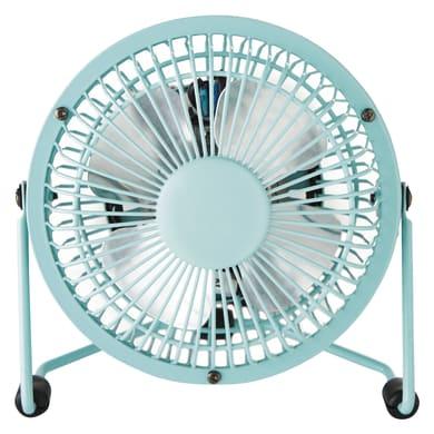 Ventilatore da ufficio EQUATION Lara azzurro blu 4 W Ø 10 cm