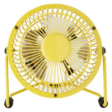 Ventilatore da ufficio EQUATION Lara giallo 4 W Ø 10 cm