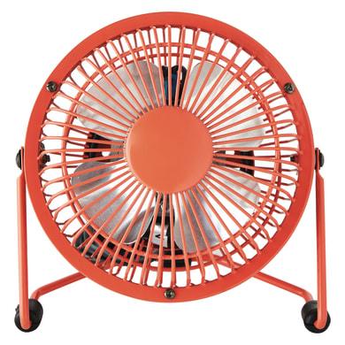 Ventilatore da ufficio EQUATION Lara rosso 4 W Ø 10 cm