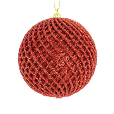 Sfera natalizia in plastica Ø 10 cm