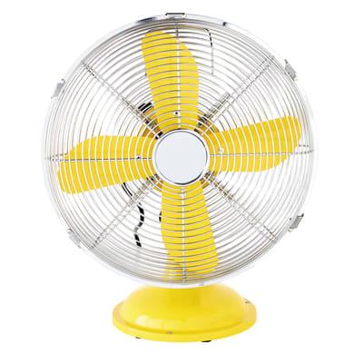 Ventilatore da appoggio EQUATION Mini Cooma giallo 40 W Ø 30 cm