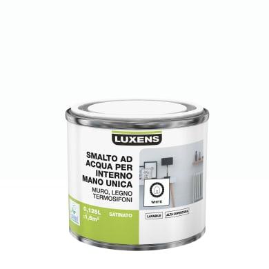 Vernice di finitura LUXENS Manounica base acqua bianco satinato 0,125 L