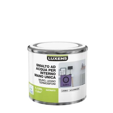 Smalto LUXENS Manounica base acqua viola elixir 3 satinato 0,125 L
