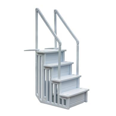 Scaletta per piscina in alluminio Gre per piscina interrata 4 gradini 206 cm