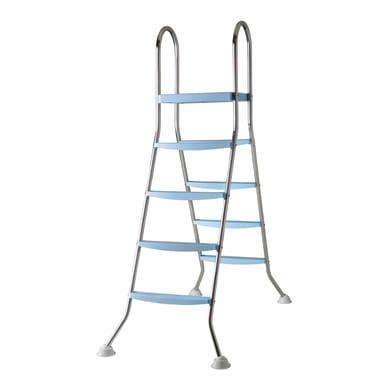 Scaletta per piscina in inox Gre per piscina fuori terra 4 gradini 142 cm