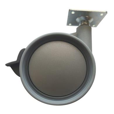Ruota Design comodini; tavolini; mobili porta TV/PC in caucciù grigio Ø 75 cm con freno Ruota in caucciù grigio Ø 75 cm con freno
