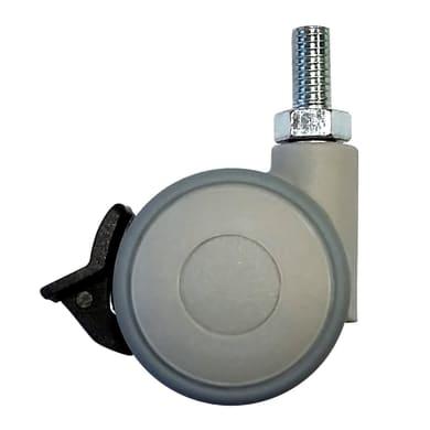 Ruota Design comodini; tavolini; cassettiere in caucciù grigio Ø 40 cm con freno Ruota in caucciù grigio Ø 40 cm con freno